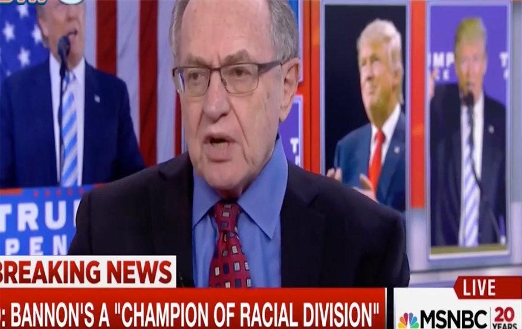 Alan Dershowitz Takes Anti-Semitism Very Seriously Indeed
